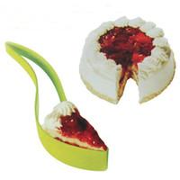 ekmek pastası toptan satış-Kek Sunucu Kek Bıçak Pasta Dilimleme Sayfa Kılavuzu Kesici Sunucu Düğün Parti için Dilim Bıçağı Mutfak Gadget