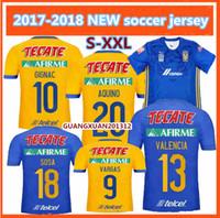 69a1f2d2adc Soccer Men Short thai quality 2017 2018 TIGRES UANL home soccer jersey 17  18 away Sosa