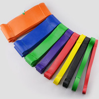 Wholesale Elastic Bands For Fitness - Strong Rubber resistance band set Fitness workout elastic training band for Yoga Pilates band cross fit bodybuilding Rehabilitation training