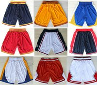 Wholesale Pants Materials - Throwback Basketball Shorts For Men's Shorts Red Black White Yellow Basketball Pant Breathable Sweatpants New Material Rev 30 Sport Short