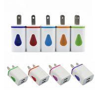 Wholesale Ups Plug Charger - Light Up LED Dual USB Ports Home Adapter AC US EU Plug Wall Charger For Smartphone
