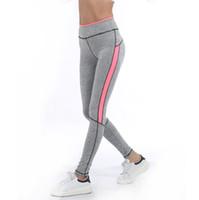 calça legging venda por atacado-2017 mulheres lady activewear rosa legging primavera verão cinza claro calça outono cintura alta leggins 1208 american original ordem 02