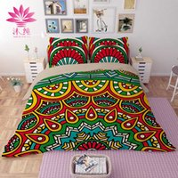 Manyun Brand Cotton Bedding Sets 4 pcs Comforter Set Duvet Covers Printing Folha de cama Bohemia Style Wholesale Home Textiles