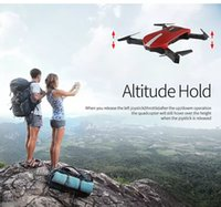 Wholesale New Rc Toys - New 2.4G Portable JY018 Foldable Mini Selfie Drone Pocket Folding Quadcopter Altitude Hold Headless WIFI FPV 0.3MP Camera RC Helicopter Toys