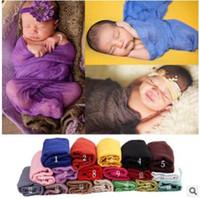Wholesale Cheesecloth Photo Prop - 170*110cm Cotton Linen Newborn Gauze Wraps Cheesecloth Wrap Newborn Baby Photo Props Wrap Blanket Gauze Fabric Infant Newborn Baby Wrap