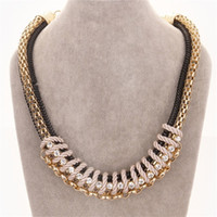 Wholesale Glass Pearl Long Chain - New fashion women's Long gold necklace ball Crystal pearl pendant necklace Luxury decoration complex jewelry wholesale drop shipping