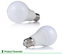 ingrosso lampadina a sfera dimmable-E27 3W 5W 7W 9W 12W globo dimmerabile 220V 110 BALL lampadine Lampadina a LED SMD5730 85-265v Dissipazione di calore Lampade a LED ad alta luminosità