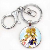 Wholesale fairy tail keys for sale - Group buy Cool Silver Fairy Tail Pendant keychain Metal key chain Natsu Dragneel Tattoo lucy Heartfilia Anime Handmade Cosplay keychains