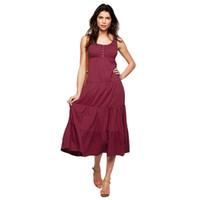 Wholesale Ladies Spaghetti Free Shipping - free shipping 2017 fashion ladies dress layered buttons belt skirt