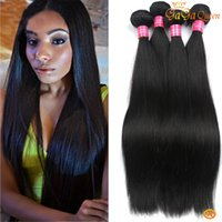 Wholesale Indain Human Hair - 4 Bundles Brazilian Virgin Hair Straight Unprocessed Brazilian Straight Virgin Hair Human Hair Extensions Perubvian Indain Straight Bundles
