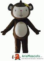 trajes de macaco para adultos venda por atacado-Trajes engraçados e Mascotes adulto Macaco Adorável mascote traje Animal mascotes fantasias trajes de publicidade mascotes carnaval vestido de festa