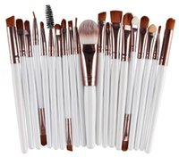 Wholesale 22 Makeup Brush Set - 20pcs Makeup Brushes Set Cosmetic Face Eyeshadow Brushes Tools Makeup Kit Eyebrow Lip Brush 22 colors