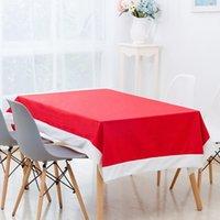 tischdecken tischwäsche großhandel-XMAS Versorgung Rechteck Weihnachten Tischdecken Tischwäsche Neujahr Tischtuch Weihnachtsschmuck für zu Hause