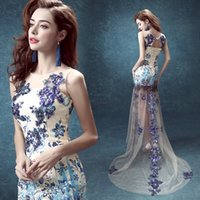 Wholesale Most Elegant Prom Dresses - BEST SELLER Chinese style Elegant dress host Costumes wedding dress gauze with lace high quality workmanship most poplular style