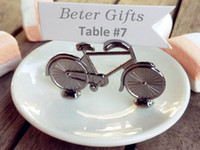 wedding table decoration table cake toppers 200pcs vintage bicycle table place card holder name number