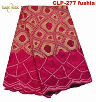Wholesale Top Quality African Fabrics - Free shipping African dry lace fabric,top quality African cotton embroidered lace for women dress! CLP-277