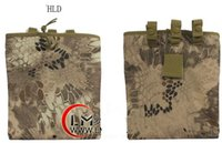 Wholesale black rattlesnake - Tactical Rattlesnake Mandrake Large Capacity Tactical Airsoft Paintball Hunting Folding Mag Recovery Dump Pouch W  Molle Belt Loop