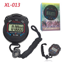 Wholesale Handheld Stopwatches - Classic Stopwatch Timer XL-013 Professional Handheld LCD Chronograph Sports Stopwatch Timer Digital Counter Timer With retail package