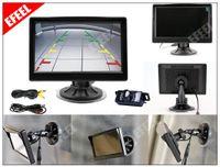 Wholesale Lcd Monitor Kit Diy - DIY Car Reverse Rear View Backup Camera Kit + 5 Inch TFT LCD Rear View Monitor