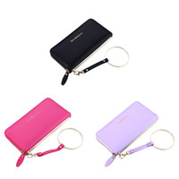 Wholesale Multifunctional Coin Purse - Women PU Leather Wallet Multifunctional Zipper Purse Large Space with Metal Ring for Money Cards Phone iphone 6s 6s plus 7 7 plus