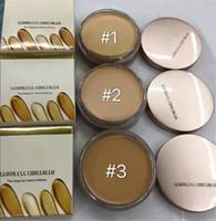 defecto del bloque de blanqueamiento al por mayor-Nude Concealer foundation Maquillaje al por mayor a prueba de agua bloque de aseo para blanquear en stock 3 colores
