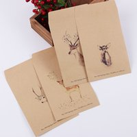 Wholesale- 10 PCS New Vintage Kraft Busta di carta DIY Retro Buste da sposa Buste da regalo per ufficio