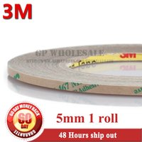 Wholesale Thin Double Sided Tape - Wholesale- 2016 3M, 5mm Ultra Thin 3M 467MP 200MP Adhesive Double Sided Sticky Tape High Temp. Resist Nameplate Bond