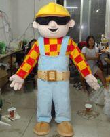 Wholesale Mascot Costume Bob - Bob The Builder Mascot Costume custom cartoon character cosply adult size carnival costume fancy dress party kits 796
