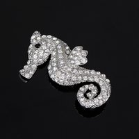 Wholesale Crystal Pendant Brooch - YFJEWE Fashion sparkling Austrian crystal pendant brooch women married lady with prominent personality with jewelry brooch BR002