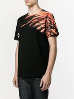 Wholesale T Shirt Donna Fashion - Marcelo Burlon Eagle Wings Crew Neck T-Shirt T-shirt Uomo Donna Estate 2017 Black White SIZE M-XXL