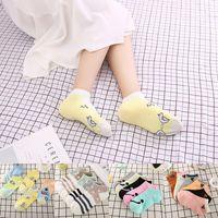 Wholesale Boys Cotton Slipper Socks - New Arrival Boys & Girls Autumn & Winter Knitted Cartoon Socks Cotton Soft Socks Candy Color Low Socks