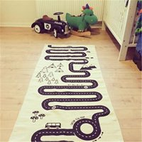 Wholesale black white blankets for sale - Group buy New INS Infants And Young Children Cotton Blanket CM Nordic Style Black White Blanket Crawling Racing Adventure Game Cotton blanket