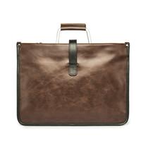 Wholesale Large Brown Leather Laptop Briefcase - New Vintage Leather Brown Black Men Briefcase Business Laptop Tote Bag Men's Messenger Bags Shoulder Bag Large Handbag