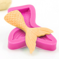 Wholesale Moulds Candles - Small Mermaid Fish Tail Silicone Fondant Cake Mold Soap Candle Mold Chocolate Candy Mould Moulds DIY Decorating Baking Pink Kitchen Tools