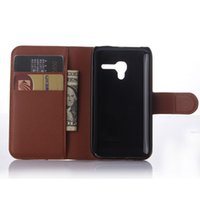 Wholesale D3 Case - High Quality Luxurious Leather Book Case For Alcatel One Touch POP d3 4035D 4035 4035A 4035X OT4035 Phone Wallet Cover Case
