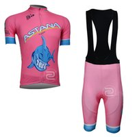 Wholesale Astana Cycling Clothes - ASTANA Men Pro Tour de France Cycling Jersey Set Bike Clothing Ropa Ciclismo Bicycle Clothes Breathable Wicking Outdoor Sportswear
