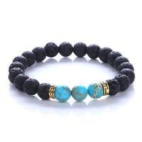 Wholesale Wholesale Buddha Products - 2017 New Products Wholesale Lava Stone Beads Natural Stone Bracelet, Men Jewelry, Stretch Yoga Bracelet for Women Gifts buddha to buddha