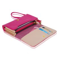 Wholesale s3 mini phone cases - Wholesale- NEW YEAR for Women Money Clip Wallet Multifunctional Clutch Bag Leather Phone Case Purse for iPhone 4 4S 5 for Samsung S2 S3 *37