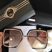 Wholesale Pc Big Box - Popular Designer Sunglasses NARCISSUS Titanium Sunglasses 24K Gold Plated Retro Style Square Big Frame Coating Mirror Lens With Original Box