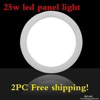 Wholesale 25 Watt Led Ceiling Lights - Wholesale- 2pcs lot 25 Watt Round LED Ceiling Light 85-265V,LED Down light Recessed Kitchen Bathroom Lamp Warm White White Cool White
