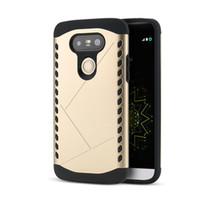 celular lg g4 venda por atacado-2 em 1 heavy duty armor combo casos dual layer tpu + pc case capa traseira para lg g5 g4 h868 caso à prova de choque celular