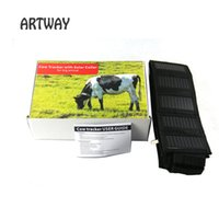 Solar GPS Tracker avec collier Waterproof Real Time Locator pour les animaux de grande taille Cow Horse Camel Tracking Geofence