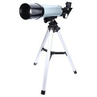 trípode telescópico al por mayor-Telescopio de tubo único con lente de paisaje astronómico F36050 más vendido 2017 + trípode para principiantes