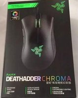Wholesale Dhl Mouse - Razer Deathadder Chroma USB Wired Optical Computer Gaming Mouse 10000dpi Optical Sensor Mouse Razer Mouse Deathadder Gaming Mice free DHL