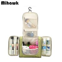 Wholesale Makeup Clear Storage - Wholesale- Hanging Women's Men's Cosmetic Bag Makeup Cases Pouch Toiletry Storage Organizer Travel Necessarie Accessories Supplies Produc