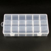 Wholesale Collections Necklace Earrings - Wholesale Adjustable Plastic Bracelet Necklace Earring Ring Display Compartment Storage Jewelry Collection Box 18 Compartments