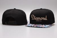 Wholesale Diamond Supply New Snapback - 2017 new Outdoor sports sun viosr caps Diamond SUPPLY CO Snapback style Baseball Hip-Hop Cool HAT CAP White black diamond bone swag gorras