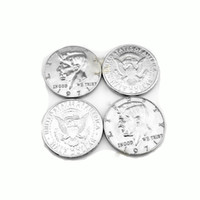 Wholesale Magic Half Dollar - 50pcs lot Half Dollar Silve Coin Magic Tricks magic coin Accessories Gimmick Magic Tricks Props Toys wholesale 81132