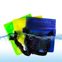 Wholesale waterproof camera plastic bag online - Waterproof Dry Waist Bag Pouch Wallet Phone Camera Underwater Swim Kayak Boating Shoulder Waist Belt Bag Case Pack