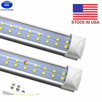 Wholesale Cree 65w - T8 Integrated Double row led tube 4ft 28w 8ft 65w 72w SMD2835 led Light Lamp Bulb 4 foot 8 foot led lighting fluorescent
